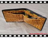 Carteira dos homens da carteira do teste padrão da avestruz do fornecedor de Guangdong