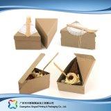 Rectángulo de empaquetado de papel de la cartulina adaptable para la torta del alimento (xc-fbk-034)