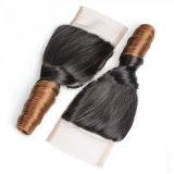 Peluca brasileña del cordón del pelo humano de la Virgen con la tapa de seda