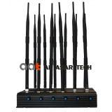 12 Blocker van de Stoorzender van het Signaal van de Telefoon van de band Regelbare Krachtige Cellulaire