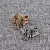 人の女性のためのレトロのラインストーン象のブローチの動物のブローチ