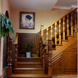 Moderna interior escalera de caracol de madera tallada (GSP16-004)