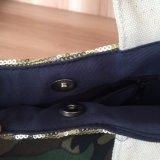 Borsa in tessuto di camouflage con tela di canapa di qualità con rivestimento in poliestere
