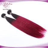 8A Ombre Cabelo humano Virgem Tecelagem de cabelo liso 1b/99j Color