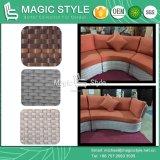 Sofà di combinazione del giardino con gli ammortizzatori e la mobilia di vimini esterna del patio del sofà di svago del rattan del sofà dei cuscini