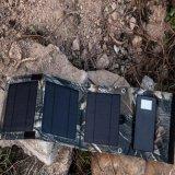 8W 4000mAh Banco de energia dobrável Folding Solar Panel Carregador de bateria de backup externo