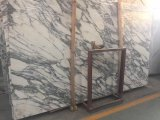 Décoration de la salle de bains en marbre blanc de l'italien Arabascata