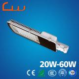 3000 - luz de rua solar do diodo emissor de luz de 6000k 30W 60W com Pólo