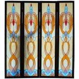 Janela de painéis de mosaico de vitrais e tamanho personalizado