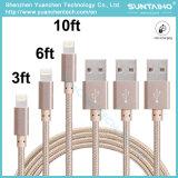 USB 2.0 del precio de fábrica al cable de carga tejido tela micro del USB