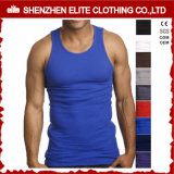 Custom Fitness Bodybuilding 100% coton Man Sport Gym Clothing Vest (ELTMBJ-588)
