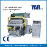preço de fábrica tecla Semi-Auto hot stamping e máquina de corte com marcação CE