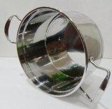 Edelstahl Saucepot/Suppe-Potenziometer mit Induktions-Unterseite und Glas-Kappe