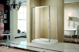 8mmの象限儀のステンレス鋼のシャワー室は和らげた明確なガラス(K-SS14)を
