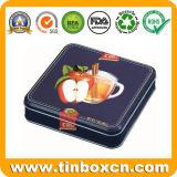 正方形の食糧錫の容器、金属の錫ボックス