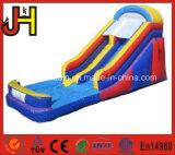 Diapositiva de agua inflable modificada para requisitos particulares con la piscina para la venta