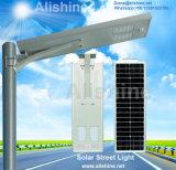 30W 40W 50W 60W todo en una oscuridad a amanecer luz de calle solar de la garantía LED del sistema de 5 años para el área al aire libre de los aparcamientos