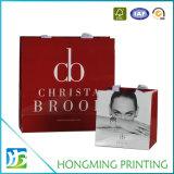 Bolsa de cosmética de papel impreso personalizado con mango de cuerda