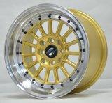Sekundärmarkt-Legierungs-Rad mit goldenem Maschinen-Gesicht