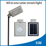 5watts PIR 운동 측정기를 가진 한세트 태양 LED 가로등
