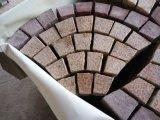 Azulejos do piso de mosaico em forma de ventilador pedra de Pavimentação