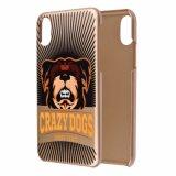 C&Tローズの金犬はパターンデザインiPhone 8のための堅い保護電話箱を印刷した
