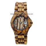 2017 новых Wristwatches твердой древесины движения японии конструкции для женщины человека