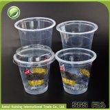 بالجملة عامة يطبع مستهلكة بلاستيكيّة [إيس كرم] فنجان مع أغطية وتبن