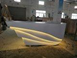 Scrittorio di ricezione di marmo artificiale di disegno operato con l'indicatore luminoso del LED