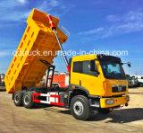 6X4 de Vrachtwagen van de Stortplaats FAW/van de Kipper met Cimc Lichaam van de Lading Huajun