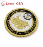 De Metal mayorista de plata de logotipo personalizado en 3D de la Marina de monedas de recuerdo