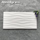 300*600 بيضاء موجة سطح لامعة يزجّج خزفيّ جدار قرميد