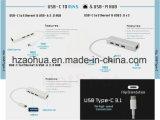 USB3.1 de Hub van het type C met Pd (de Levering van de Macht) het Aluminium van de Functie 4 Havens