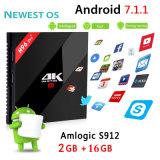 Logo&Apk를 가진 Amlogic S912 64bit 인조 인간 지능적인 Kodi 텔레비젼 상자