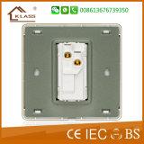 Commutateur électrique du mur 1-G de qualité grise de couleur