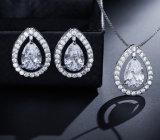 Collier de mariée Dangle Earring bijoux Set clair CZ Necklace Mode bijoux Fashion Collier Collier de cadeaux de mariage robes de mariée bijoux Set NECKLACE Bijoux