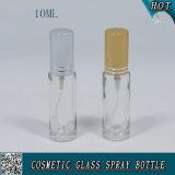Bouteille en verre cosmétique Shaped de jet de pompe de cylindre pour le parfum 10ml