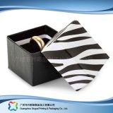 Reloj/joyería/regalo de lujo rectángulo de empaquetado de la visualización de madera/del papel (xc-hbj-025)