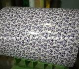 Bobine en acier galvanisée enduite d'une première couche de peinture colorée granuleuse estampée de PPGI /Flower