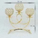 3-Heymamba оружия Gold/серебряные позолоченные разъемы держателя при свечах в таблице Candelabras Crystal Hotel свадебные украшения