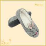 Ladies Girls Cute Soft Popular Home Dance Shoes Zipper com Ribbit