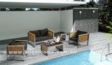 屋外の柳細工のTextileneの編むソファーの一定の家具