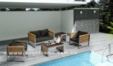 Muebles de mimbre al aire libre del sofá de Textilene Weaving