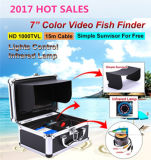 """30m o inventor HD 600TV de 7 de """" peixes do sistema da câmara de vídeo TFT LCD alinha a câmera subaquática"""