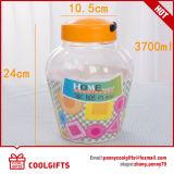 3700ml PET plástico de boca ancha dulces jarra, Cosmética frasco con tapa de polipropileno