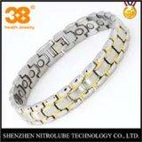 Chapado en oro y plata titanio germanio magnética joyas Pulsera de abeto con X poder Bioenergía