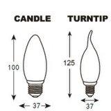 Cola E27 3With5W de la dimensión de una variable de la vela/Turntip de la lámpara del bulbo del LED