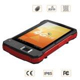 Tablette biométrique androïde raboteuse d'empreinte digitale avec le lecteur de RFID de fréquence ultra-haute de long terme de scanner de code barres du lecteur de code de Bluetooth Qr de WiFi USB 2D