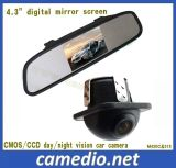 """4.3inch Systeem 4.3 van de Spiegel van de Mening van de auto Achter """" Spiegel met het Digitale Scherm de Camera van de Auto van +170 Graad"""