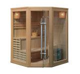 Leicht zusammengebaute Dampf-Sauna-Räume für Person 3, finnische Sauna